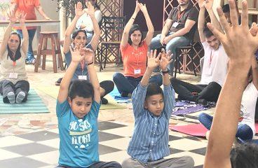 Yoga con donantes